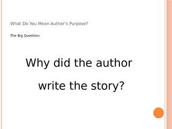 Author's Purpose Power Point