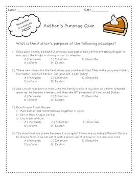 Author's Purpose PIEED Quiz