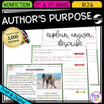 Author's Purpose: To Answer, Explain, or Describe- RI.2.6
