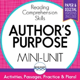 Author's Purpose Unit:  Reading Comprehension Mini-Unit -