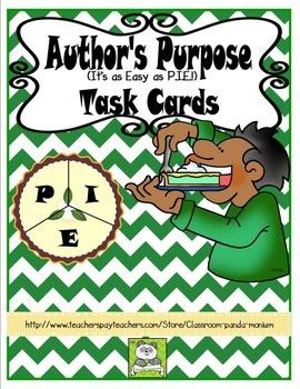 Author's Purpose Task Cards (CC Aligned)
