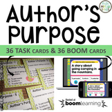 Author's Purpose 36 Task Cards, Scoot, and Quick Assessmen