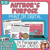 Author's Purpose Task Cards: PIE - Persuade, Inform, and E