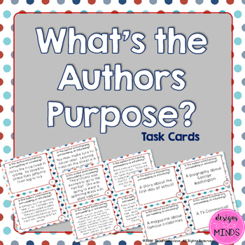 Authors Purpose Task Cards
