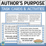 Author's Purpose Task Cards & Assessment