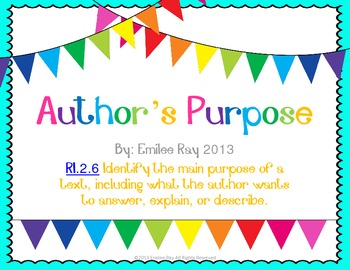 Author's Purpose Unit {Common Core Aligned}