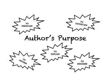 Author's Purpose Web Diagram