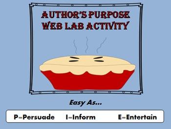 Author's Purpose Web Lab Activity