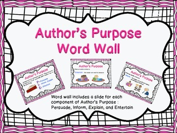 Author's Purpose With explicit visuals