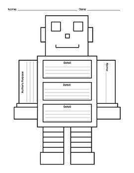 Author's Purpose and Details Robot