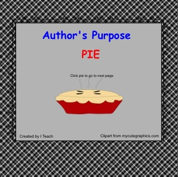 Author's Purpose on the SMARTboard