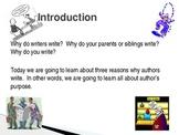 Author's Purpose's Webquest