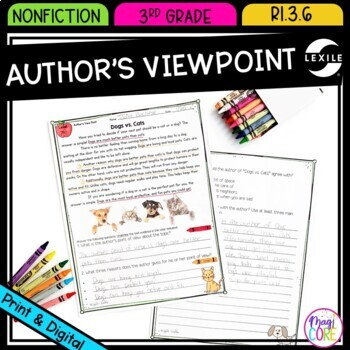 Author's View Point in Non Fiction Text- RI.3.6