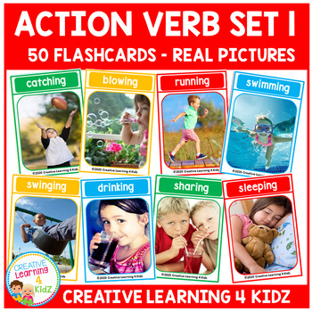 Action Verb Cards Set 1