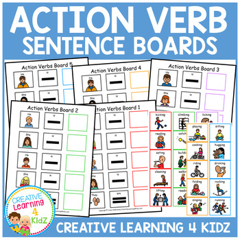 Action Verb Sentence Boards