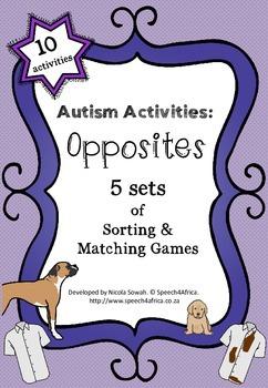 Autism Activities: OPPOSITES