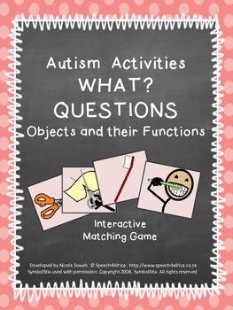 Autism Activities: What? questions (objects and their functions)