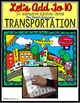 Autism Adapted Task Cards Books -Transportation COUNT/ ADD
