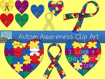 Autism Awareness Clip Art Set