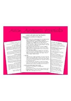 Autism Awareness Handouts {FREEBIE}