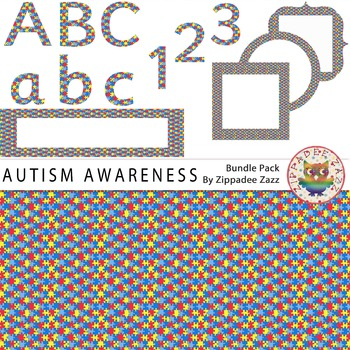 Autism Awareness Month - 71 items! Background/frames/heade