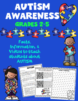 Autism Awareness Reading and Writing Activity