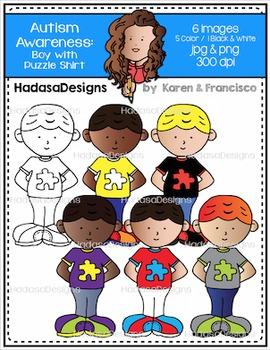 Autism Awareness Set #5 Clip Art FREEBIE