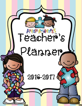 Autism Awareness Teacher Binder Survival Planner and Data
