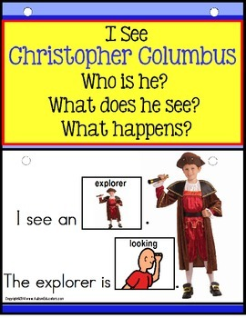 CHRISTOPHER COLUMBUS- Build a Sentence with Pictures Inter