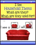 AUTISM Build A Sentence with Pictures Interactive - HOUSEH