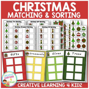 Christmas Matching & Sorting Board Bundle