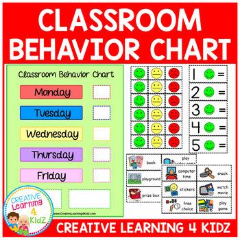 Classroom Behavior Chart Reward Visuals