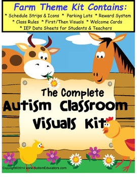 Autism Classroom Visuals Kit - FARM THEME
