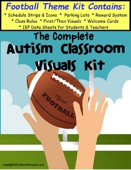 Autism Classroom Visuals Kit - FOOTBALL THEME for Boys and Girls