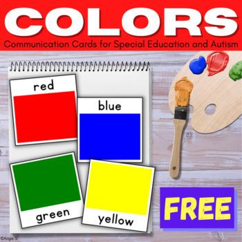 Autism Communication Cards- Colors