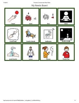 Autism Communication Needs Pecs Board