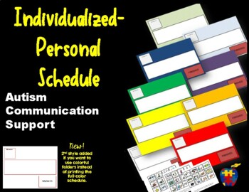Autism Communication Support Individualized Personal Visua