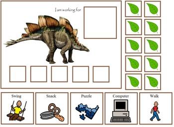 Autism:  Dinosaur Token Boards