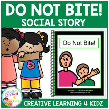Social Story Do Not Bite! Book Autism