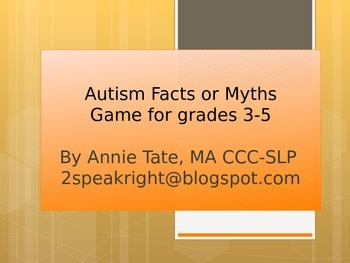 Autism Facts and Myths Kid Edition