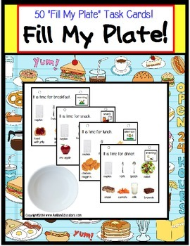 Autism Life Skills Filling Food Order Activity for Special