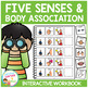Five Senses & Body Association Interactive Workbook Speech Autism