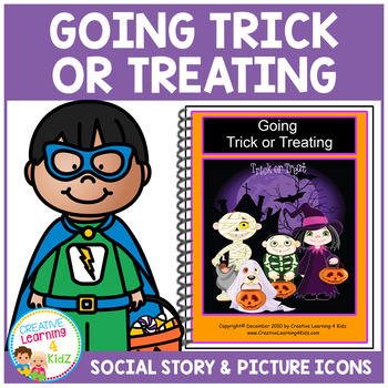 Social Story Trick or Treating Book Autism