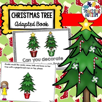 Autism Interactive Book, Decorate Christmas Tree