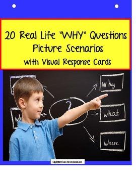 """Autism Language & Comprehension """"WHY"""" Picture Scenarios {S"""