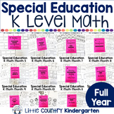 Autism Level 1 or Kindergarten Math Bundle: Centers and Ye