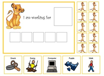 Autism:  Lion King Token Board