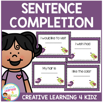 Sentence Completion Cards