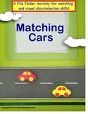 Autism MATCHING CARS File Folder Game for Special Educatio
