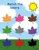 Autism Matching File Folders:Falling Into Autumn with Numb